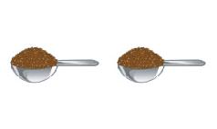 茶葉の分量のイラスト