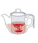 お湯の分量のイラスト
