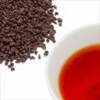 アーリーモーニングティーの茶葉と水色の写真