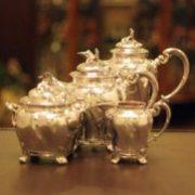【CHRISTOFLE(クリストフル)】100年前の貴重なティーセット【紅茶を楽しむためのアンティーク】