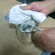 シルバーアンティークティーセットの日常の取り扱い方法